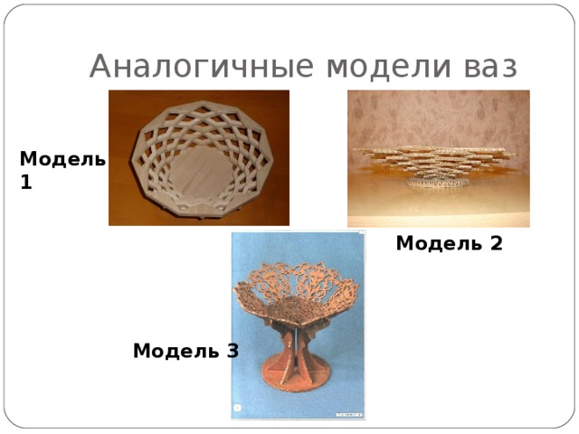 Аналогичные модели ваз Модель 1 Модель 2 Модель 3