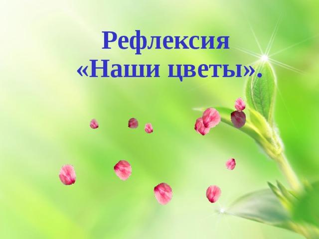 Рефлексия   «Наши цветы».
