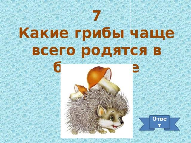 7 Какие грибы чаще всего родятся в березняке Ответ
