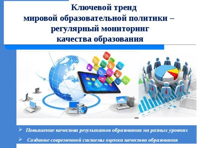 Ключевой тренд  мировой образовательной политики –  регулярный мониторинг  качества образования