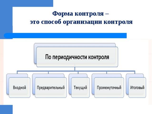 Форма контроля –  это способ организации контроля