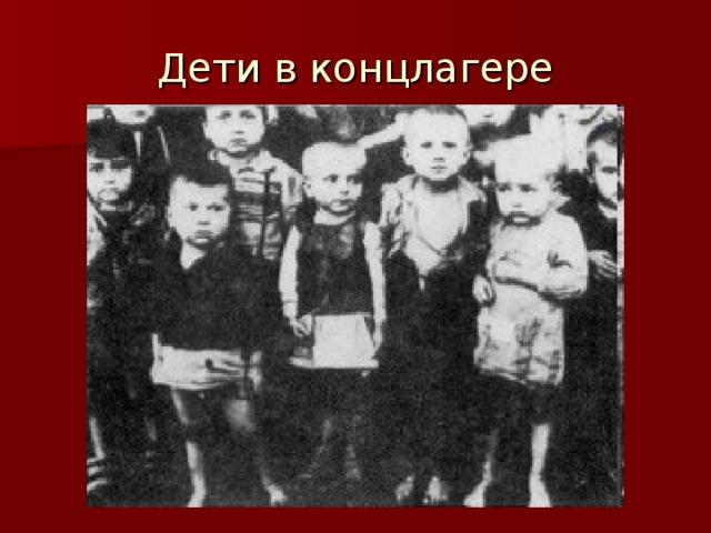 Дети в концлагере