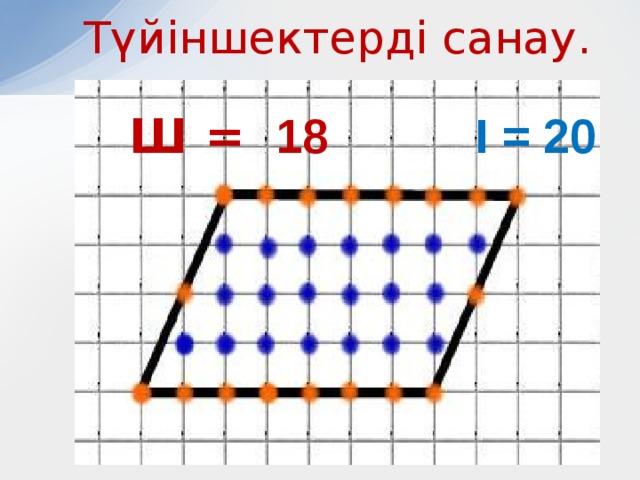 Түйіншектерді санау. Ш = 18 І = 20