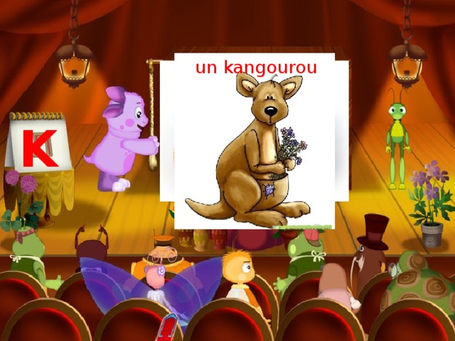 un kangourou un kiwi K