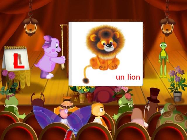 une lampe L un lion