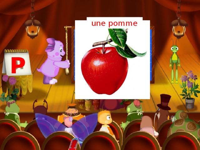 un parachute une pomme P