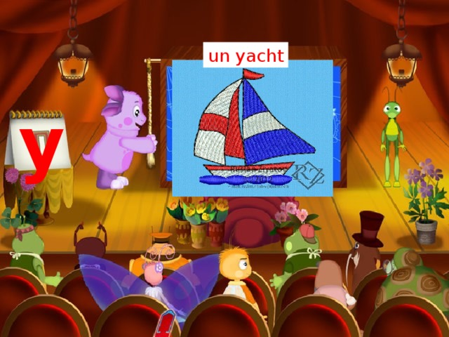 un yacht y