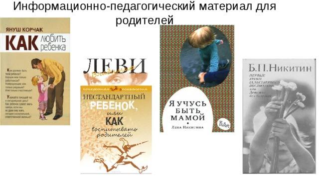 Информационно-педагогический материал для родителей