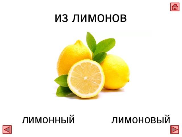 из лимонов лимоновый лимонный