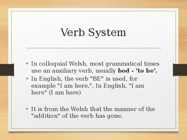 Verb System