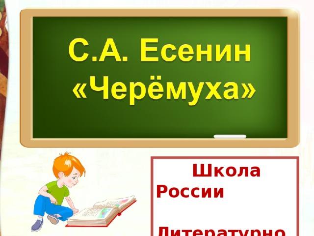 Школа России  Литературное чтение  3 класс