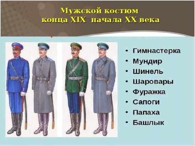 Мужской костюм конца XIX начала XX века