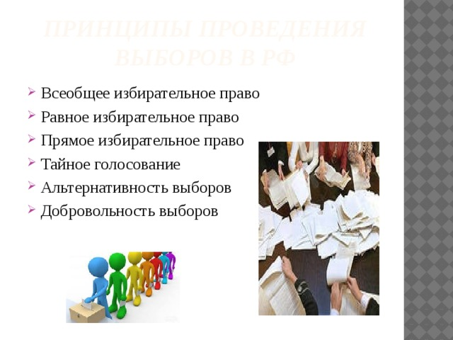 Принципы проведения выборов в РФ