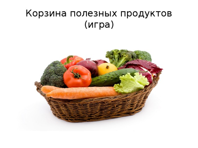 Корзина полезных продуктов  (игра)