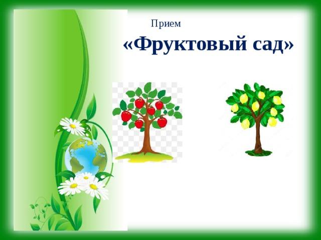 Прием  «Фруктовый сад»