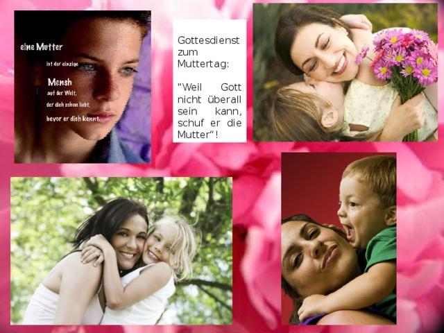 Gottesdienst zum Muttertag:
