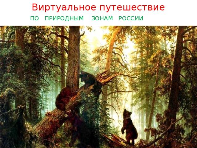 Виртуальное путешествие  ПО ПРИРОДНЫМ ЗОНАМ РОССИИ