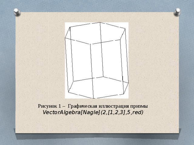 Рисунок 1 – Графическая иллюстрация призмы VectorAlgebra[Nagle](2,[1,2,3],5,red)