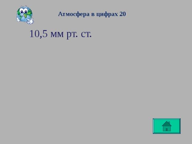 Атмосфера в цифрах 20 10,5 мм рт. ст.