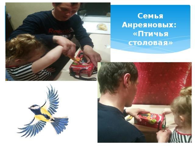 Семья Анреяновых: «Птичья столовая»