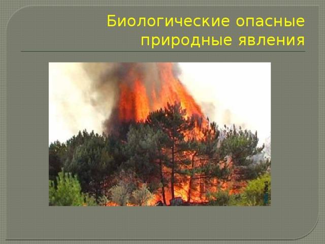 Биологические опасные природные явления