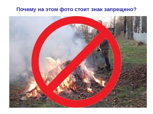 Почему на этом фото стоит знак запрещено?
