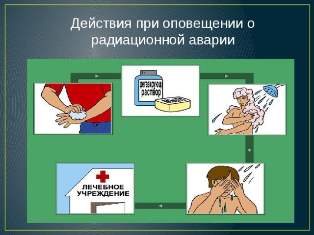 Действия при оповещении о радиационной аварии