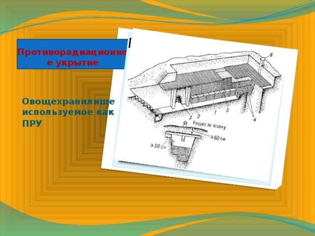 Вставка рисунка Противорадиационное укрытие Овощехранилище используемое как ПРУ