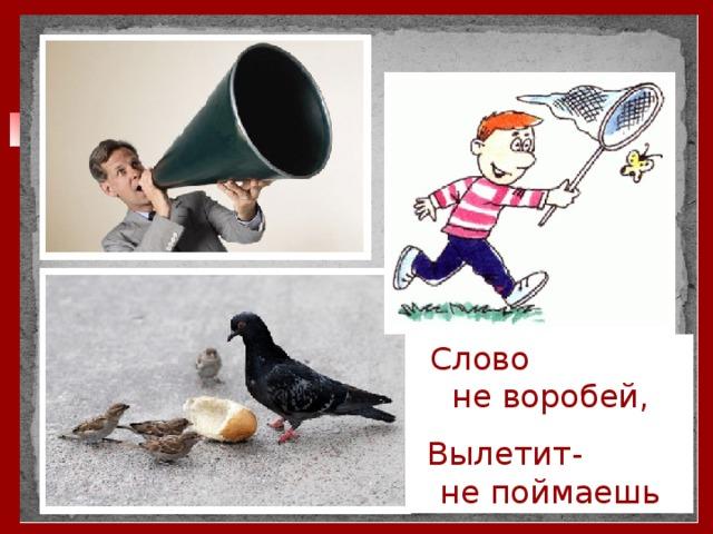 Слово не воробей, Вылетит- не поймаешь