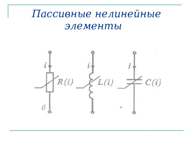 Пассивные нелинейные элементы