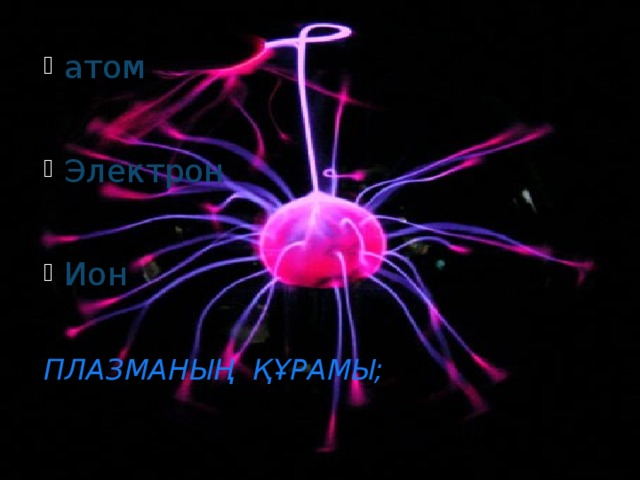атом  Электрон  Ион