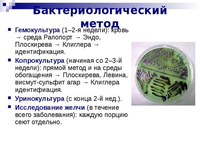 Бактериологический метод
