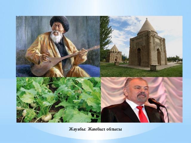Жауабы: Жамбыл облысы