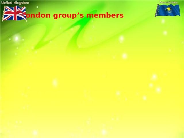 Rishat Aktilek Ymirgul Aitore London group's members Aiganum Dastan Akerke Oralhan Zhalgas Fariza Turzhan London group's members