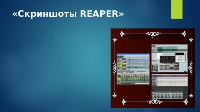 «Скриншоты REAPER»