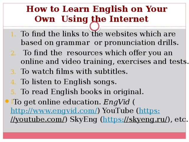 How to Learn English on Your Own Using the Internet