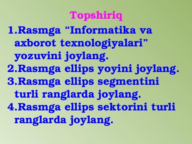 Topshiriq