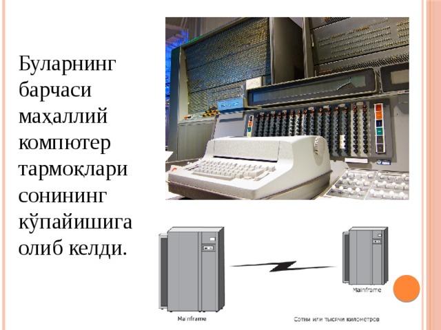 Буларнинг барчаси маҳаллий компютер тармоқлари сонининг кўпайишига олиб келди.