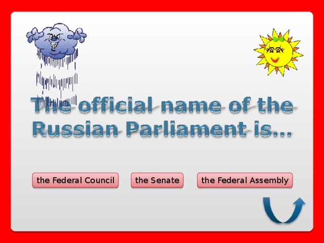 the Federal Council the Federal Assembly the Senate