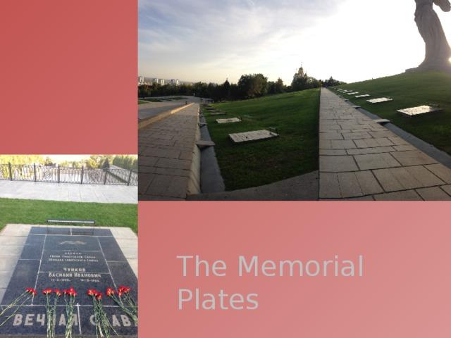The Memorial Plates