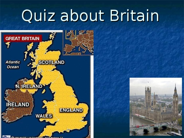 Quiz about Britain
