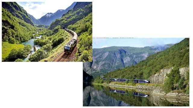 Высокогорная железная дорога проходит по Северной Европе среди резных берегов фьордов Норвегии. За семь часов поезд пересекает высокогорный хребет между Осло и Бергеном, а потом проходит через открытое всем ветрам бесплодное горное плато Хардангервидда - крупнейшую европейскую пустыню, и под конец маршрута спускается через цветущие долины в ганзейский город Берген. Билет в одном направлении - от 131 доллара.