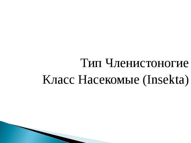 Тип Членистоногие Класс Насекомые (Insekta)