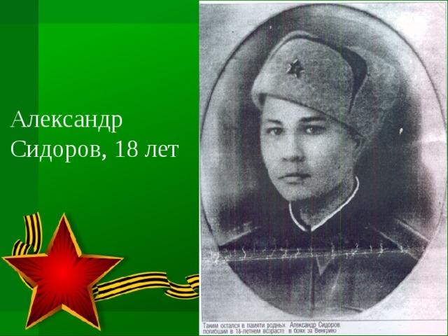 Александр Сидоров, 18 лет