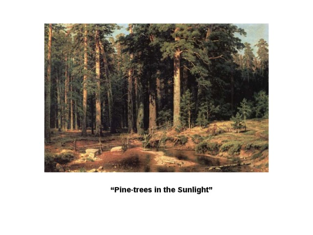 """ Pine-trees in the Sunlight"""