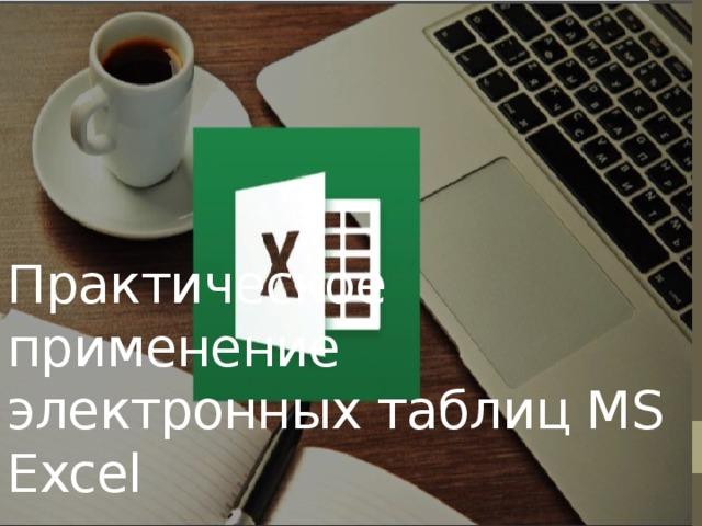 Практическое применение электронных таблиц MS Excel