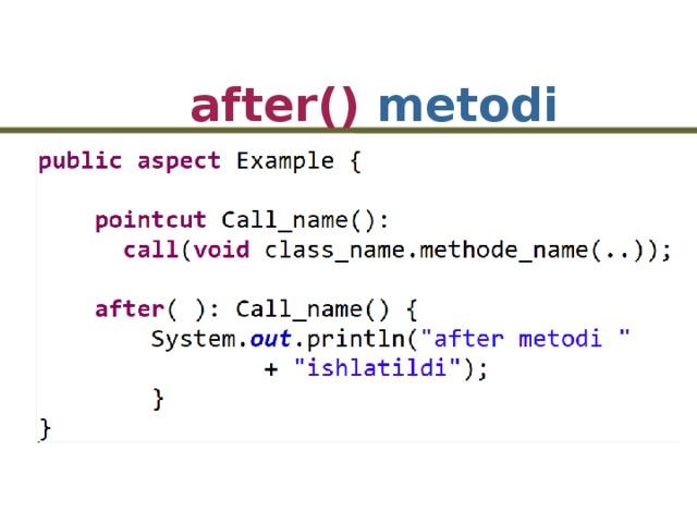 after() metodi