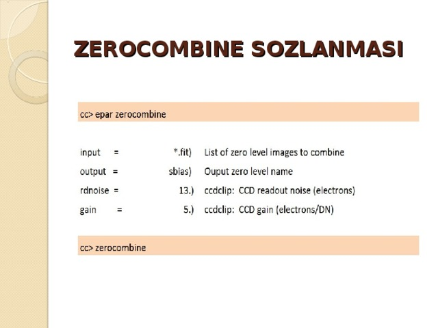 ZEROCOMBINE SOZLANMASI