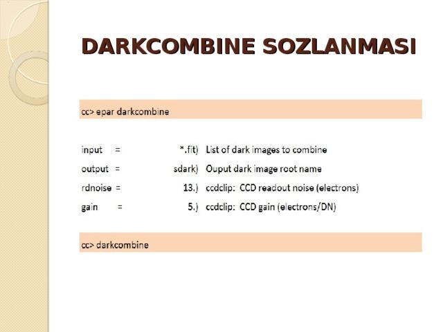DARKCOMBINE SOZLANMASI