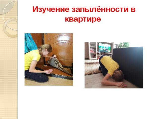 Изучение запылённости в квартире
